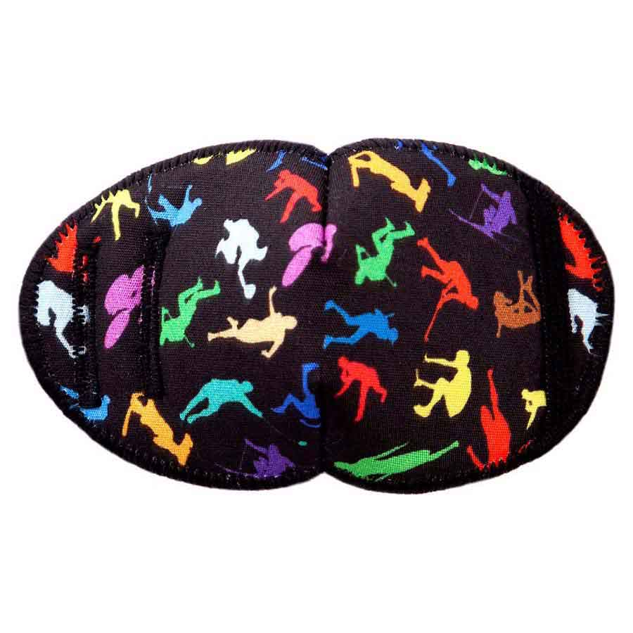 Colourful Sports soft reusable fabric eye patch for children with glasses