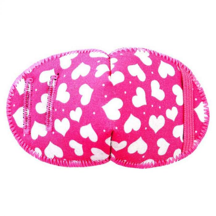 Dotty Hearts eye patch for glasses