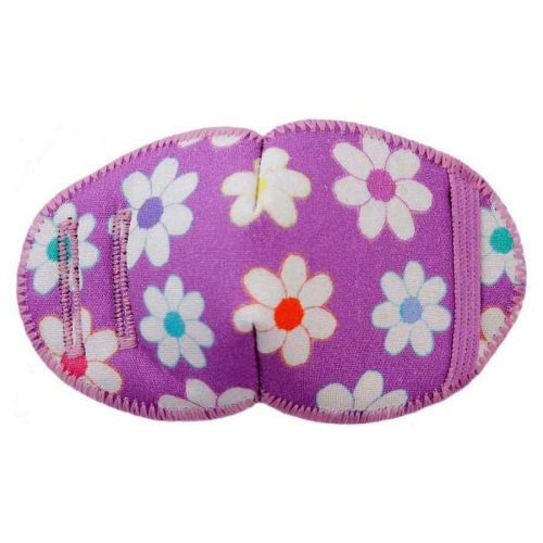Flower Girl soft reusable fabric eye patch for children with glasses