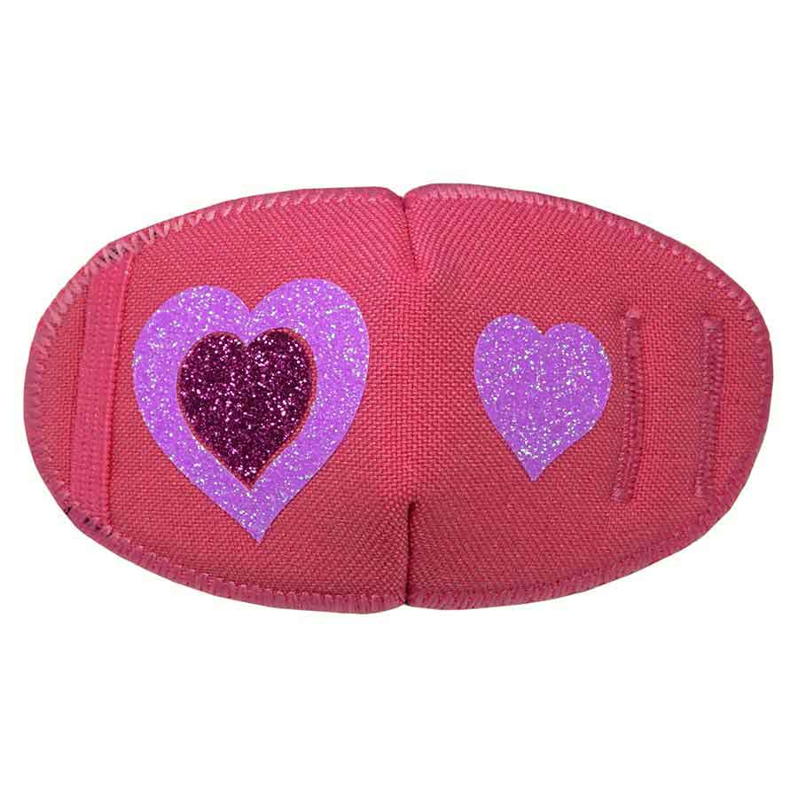 Kay Fun Patch Glitter Hearts on Pink eye patch for glasses