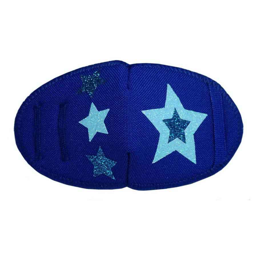 Kay Fun Patch Glitter Stars on Blue eye patch for glasses