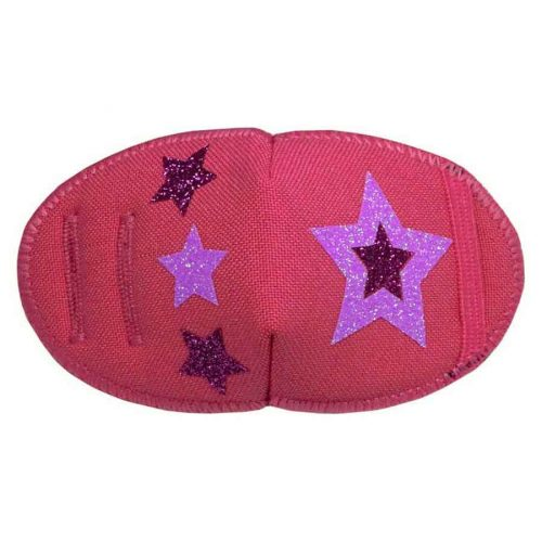 Glitter Stars on Pink eye patch for glasses Kay Fun Patch