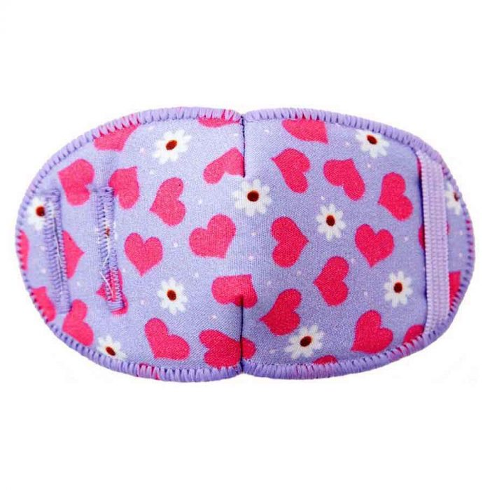 Hearts and Flowers eye patch for glasses