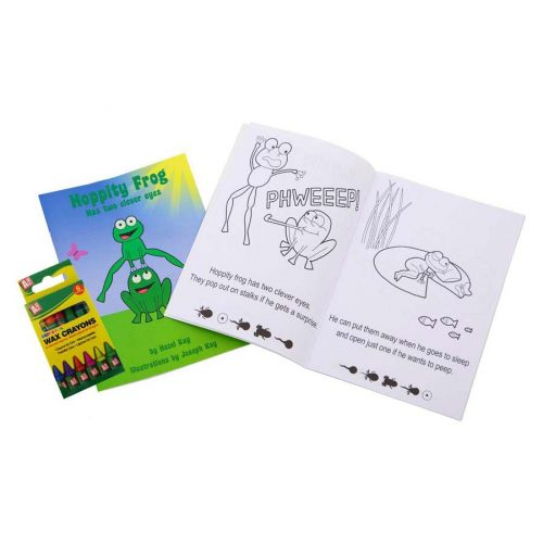 Hoppity Frog Amblyopia Book with Crayons