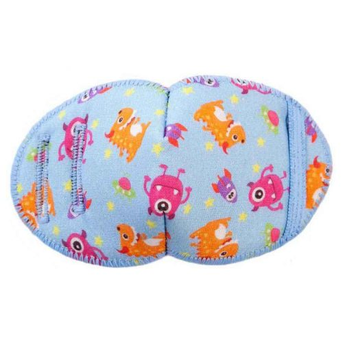 Invaders soft reusable fabric eye patch for children with glasses