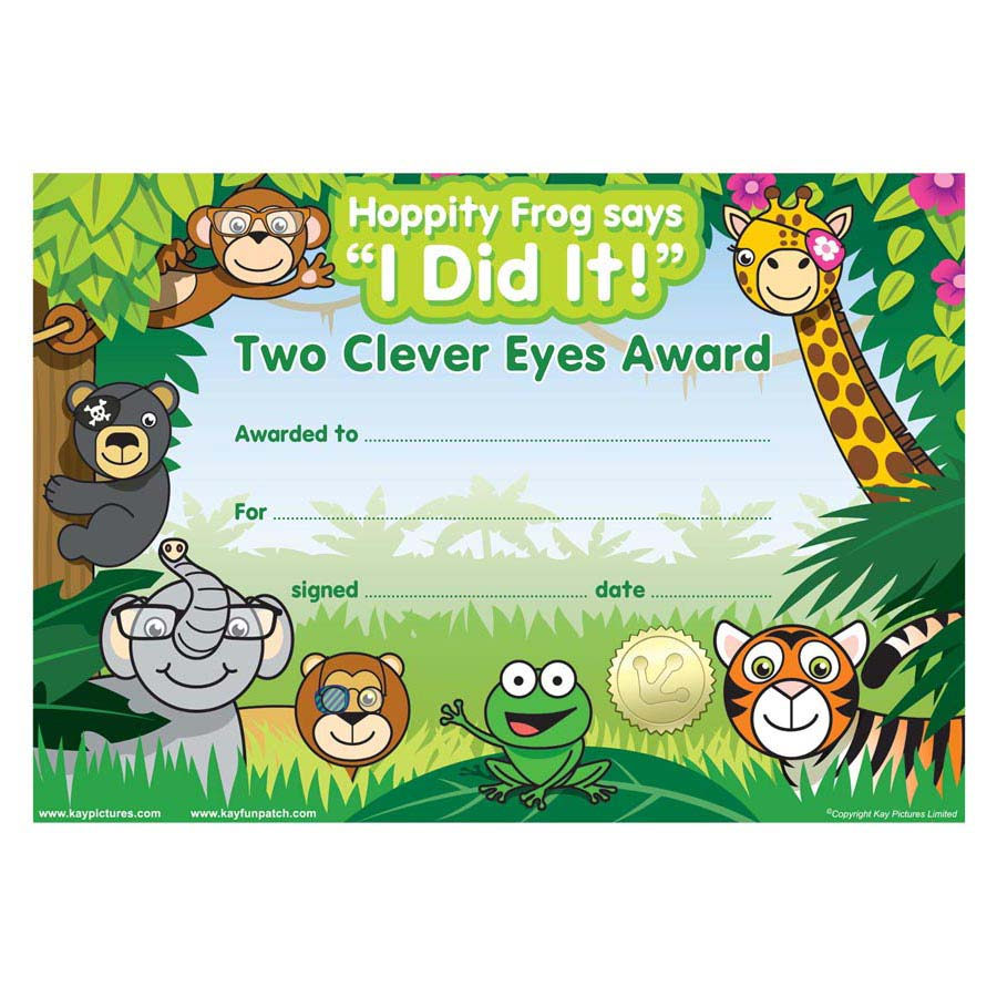Eye Patch Jungle certificates