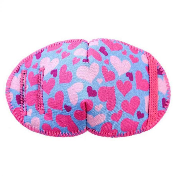 Lovehearts soft reusable fabric eye patch for children with glasses