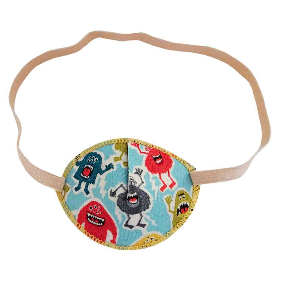 Mighty Monsters colourful eye patch for children for effective amblyopia treatment