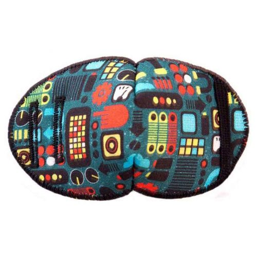 Mission Control soft reusable fabric eye patch for children with glasses