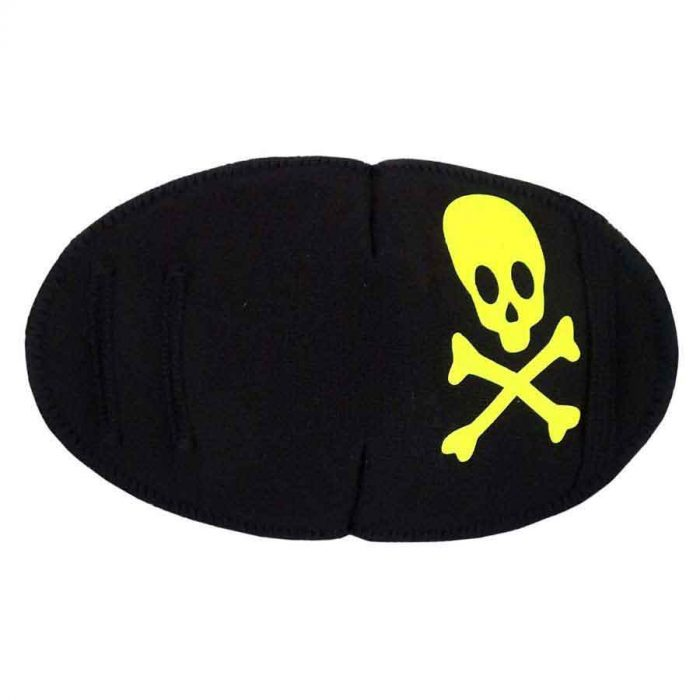 Pirate eye patch for glasses Neon Yellow