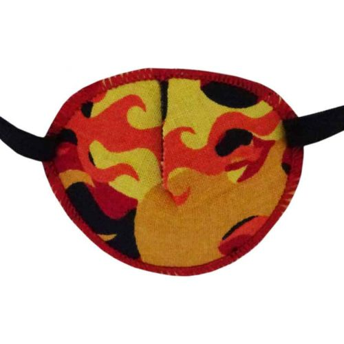 Orange Flames Eye Patch