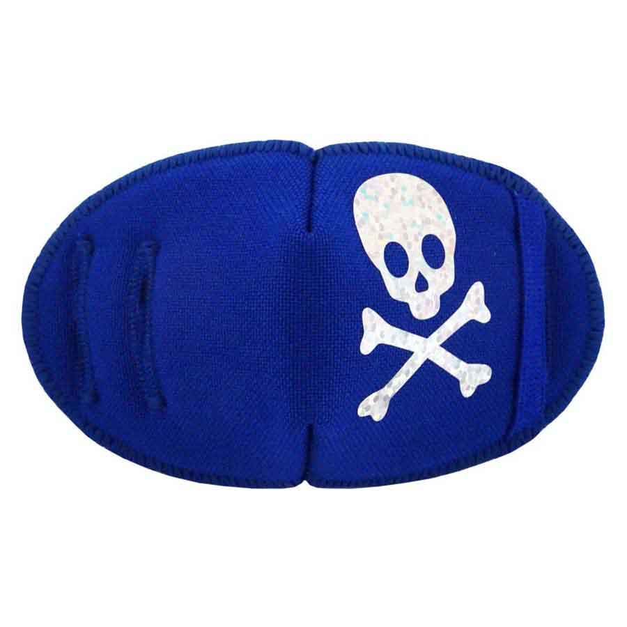 Pirate Eye patch for glasses Silver Sparkle on Blue