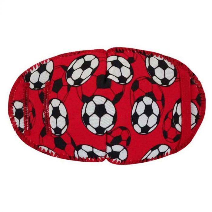 Soccer Reds eye patch for glasses
