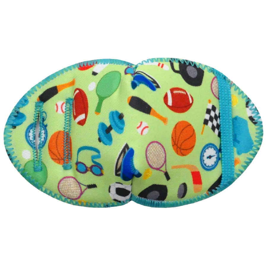 Allsports soft reusable fabric eye patch for children with glasses