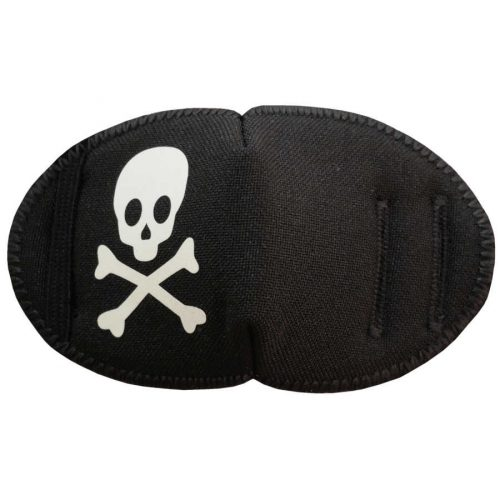 Glow in the Dark Pirate Fun Patch soft reusable fabric eye patch for children with glasses