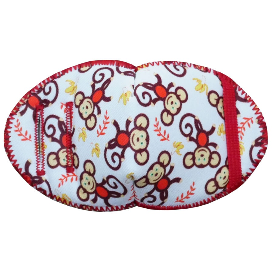 Monkey Fun soft reusable fabric eye patch for children with glasses
