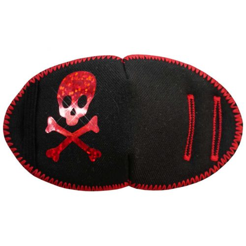 Red Sparkle Pirate Fun Patch soft reusable fabric eye patch for children with glasses