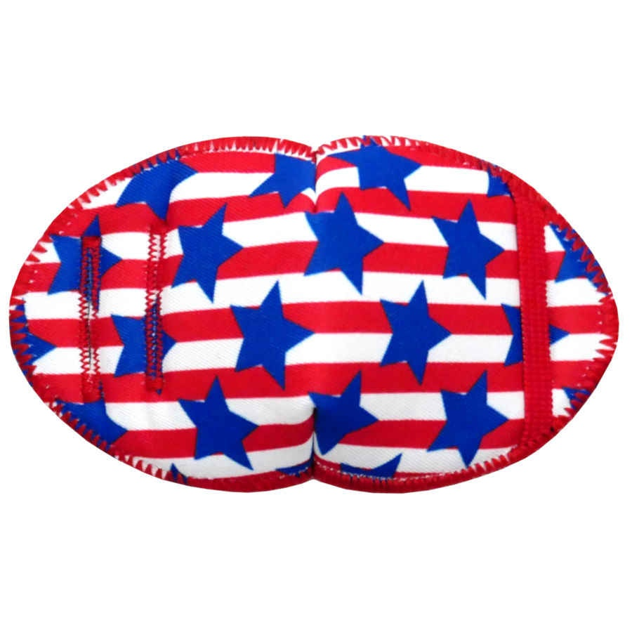 Stars and Stripes soft reusable fabric eye patch for children with glasses
