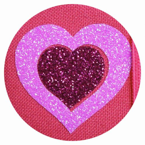 Glitter Hearts on Pink eye patch for glasses
