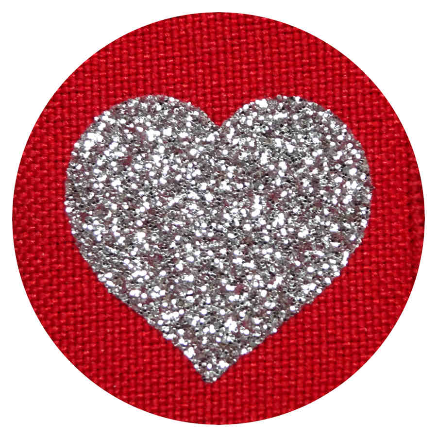 Glitter Hearts on Red eye patch for glasses