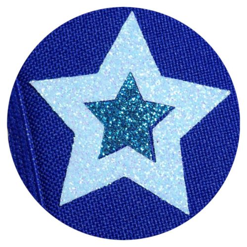 Glitter Stars on Blue eye patch for glasses
