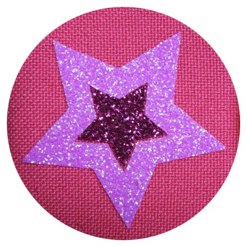 Glitter Stars on Pink eye patch for glasses