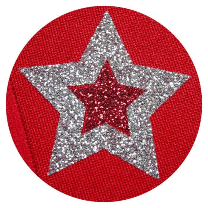 Glitter Stars on Red eye patch for glasses