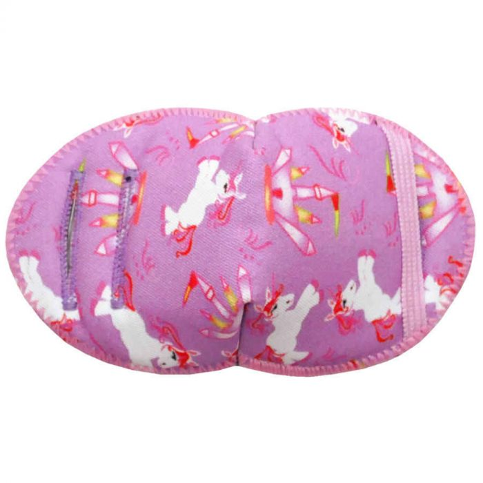 Unicorns soft reusable fabric eye patch for children with glasses
