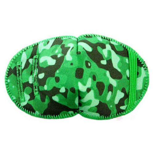 Camouflage eye patch for glasses