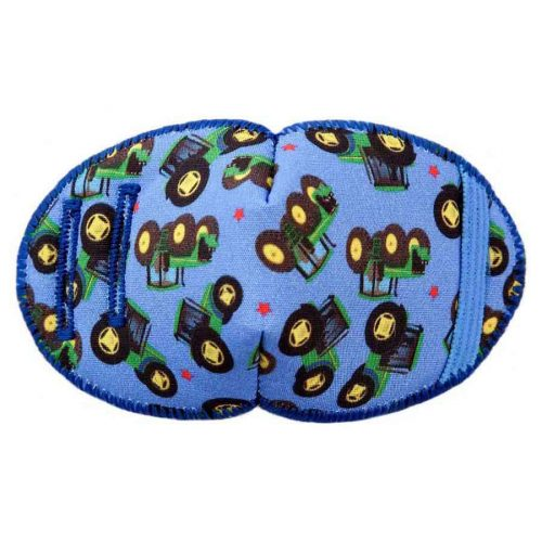 Tractors soft reusable fabric eye patch for children with glasses