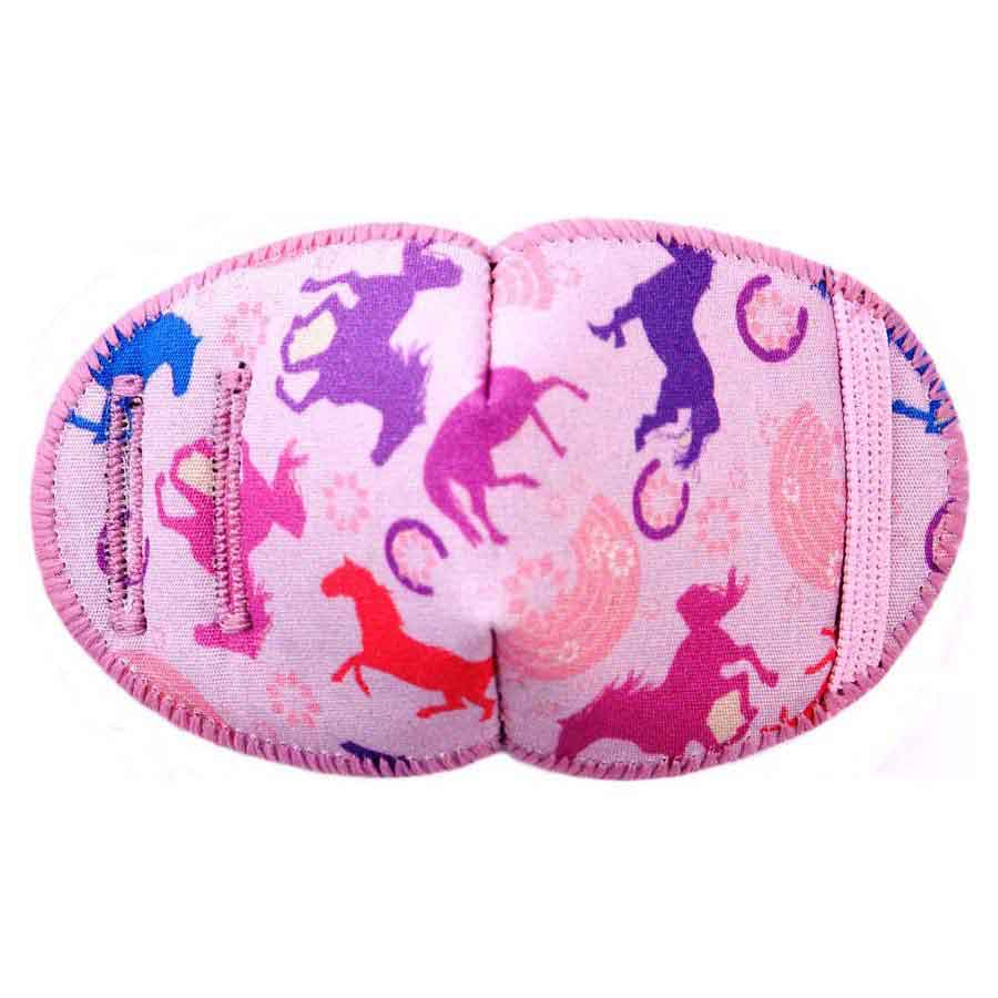 Pony Rides soft reusable fabric eye patch for children with glasses