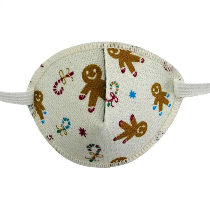 Kay Fun Patch Gingerbread Men colourful eye patch for children for effective amblyopia treatment