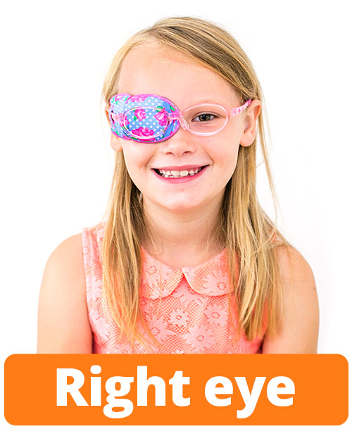 Instructions right eye