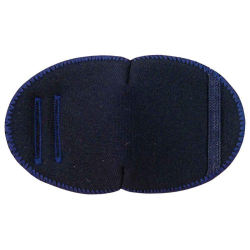 Navy soft reusable fabric eye patch for children with glasses